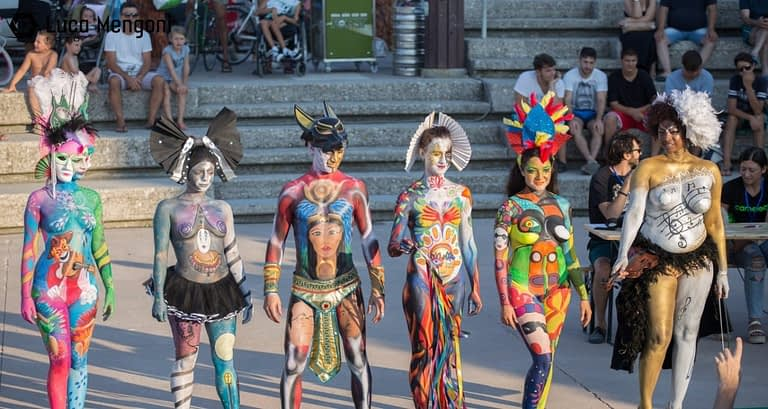 color sea festival bodypainting 2018